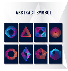 abstract modern ornament background collection vector image