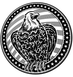 American eagle usa natioal symbol fourth july vector