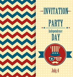 American invitation vector image