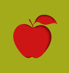 apple with green background vector image