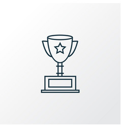 award cup icon line symbol premium quality vector image