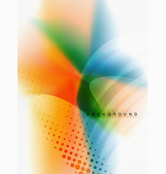background abstract color flow liquid design vector image