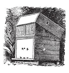 Beehive vintage engraving vector