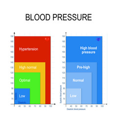 Blood pressure chart vector
