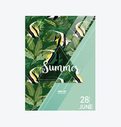 brochure template tropical fish summer vector image