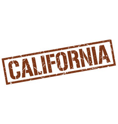 California brown square stamp vector