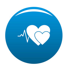 Cardiology icon blue vector