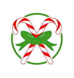 christmas candy cross gift vector image