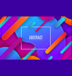 colorful gradient cover design futuristic vector image