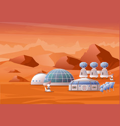 concept of mars colonization vector image
