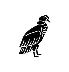Condor black glyph icon vector