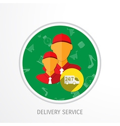Delivery service web flat background vector
