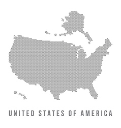 Dotted USA map on white background vector