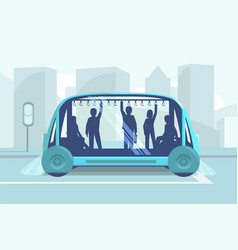 driverless car technology vector image
