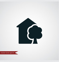 Eco house icon simple vector