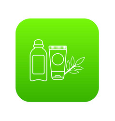 Eco natural cream icon green vector