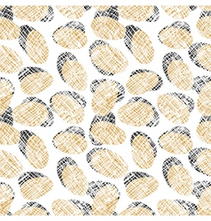 Eggs seamless pattern vector