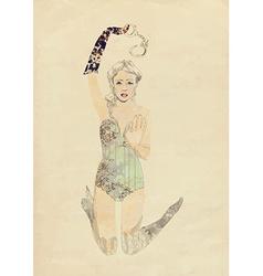 Fashion fairy vector