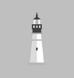 Flat black lighthouse building vector