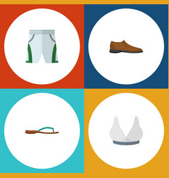 flat icon clothes set of brasserie male footware vector image