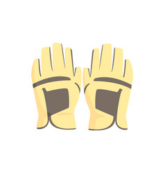 golf gloves sport equipment vector image