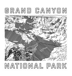 Grand canyon national park icon vector