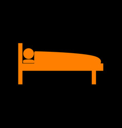 hospital sign orange icon on black vector image