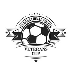 International soccer veterans cup logotype or vector