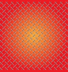 iron wire mesh and shadow on red background vector image