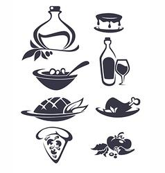 italian menu vector image