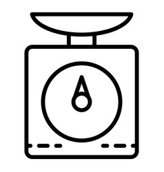 kitchen scales icon outline style vector image