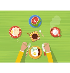 Kitchen top view poster vector