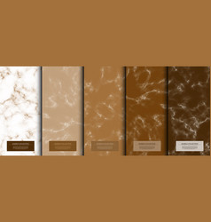 marble collection abstract pattern texture coffee vector image