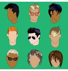 Mens haircut vector