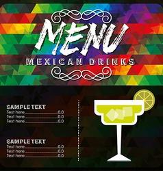 Mexican drinks design vector