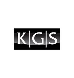 Modern logo solution letter kgs vector