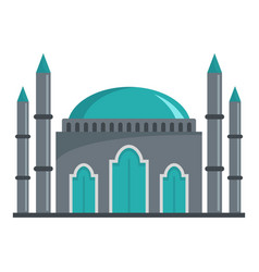 Muslim icon flat style vector