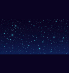 Night sky background dark sky with stars vector