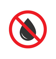 no water drops sign vector image