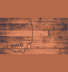Ohio map brand vector