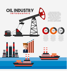 Oil industry infographic transport logistics vector