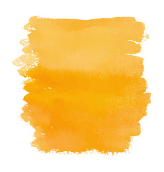 orange color watercolor hand drawn gradient banner vector image