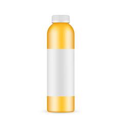 orange juice plastic bottle mockup vector image