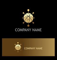 orbit technology gold logo vector image