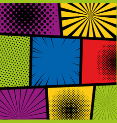 pop art comic vector image