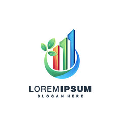 Real estate colorful logo design vector