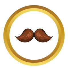 Retro hipster mustache icon cartoon style vector image