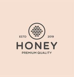 Retro vintage honey logo design vector