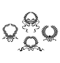 Royal laurel wreaths vector image