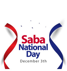 Saba national day template design vector